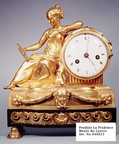 """Antiquités - Louis XVI french clock """"Allegory of Prudence"""" signed Buzot"""