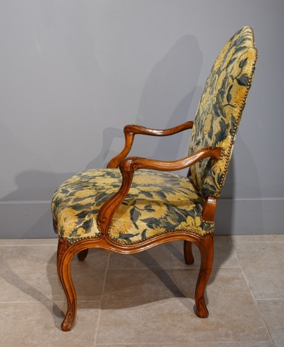 Pair Of Nogaret Stamped Armchairs, 18th Century - Seating Style