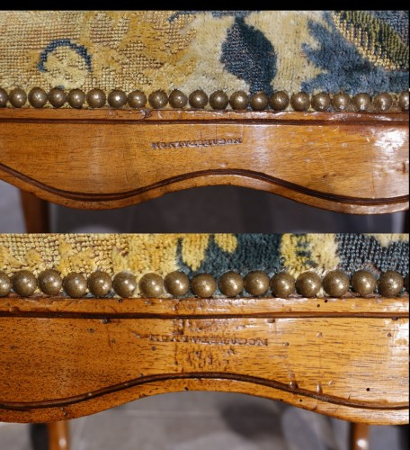 Seating  - Pair Of Nogaret Stamped Armchairs, 18th Century