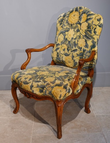 Pair Of Nogaret Stamped Armchairs, 18th Century -