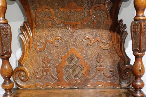 "Italian ""prie Dieu"", In Carved Walnut, 17th Century - Louis XIII"