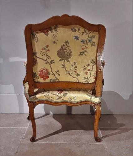 18th century - Pair Of Louis XV Armchairs In Walnut