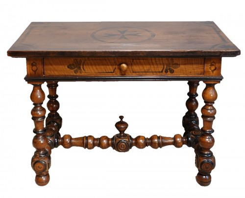 French Louis XIII Desk / Table , Walnut, 17th Century