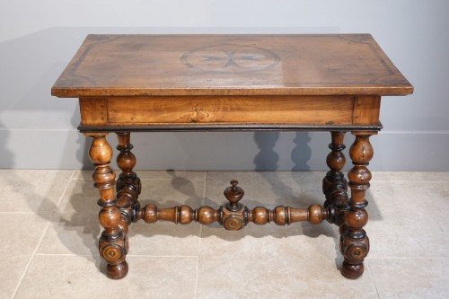 17th century - French Louis XIII Desk / Table , Walnut, 17th Century