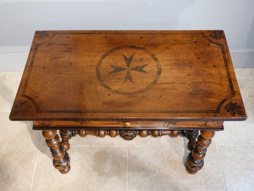 Louis XIII - French Louis XIII Desk / Table , Walnut, 17th Century