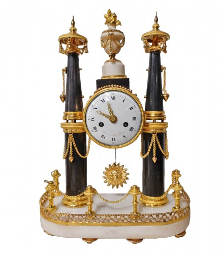 French Louis XVI Portico Clock