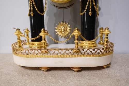 French Louis XVI Portico Clock - Louis XVI