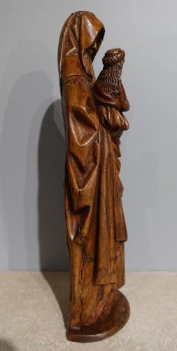 Saint Anne Trinitaire In Carved Walnut, Circa 1510 - Sculpture Style Renaissance