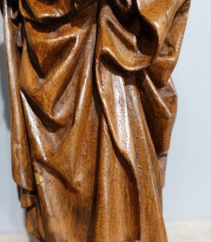 Antiquités - Saint Anne Trinitaire In Carved Walnut, Circa 1510