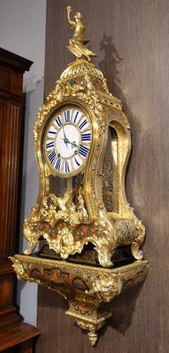 "Horology  - Louis XV cartel in ""Boulle marquetry"" signed Colin de Laglizière 1735"