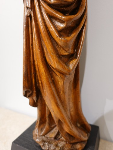 Antiquités - Beautiful Madonna and Child carved in walnut circa 1500