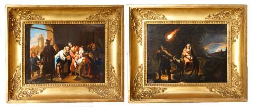 Pair of 18th century religious paintings