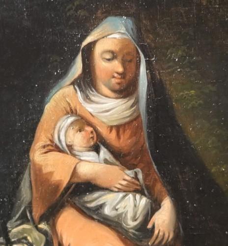 Pair of 18th century religious paintings -