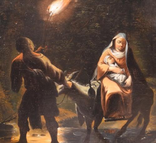 18th century - Pair of 18th century religious paintings
