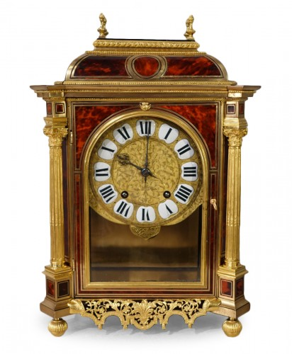 French Table clock signed B.G Martinot, Louis XIV, 17th century
