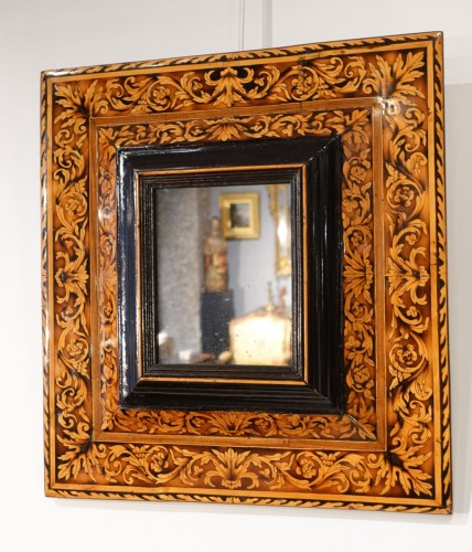Marquetry mirror attributed to Thomas Hache, circa 1695 - Mirrors, Trumeau Style Louis XIV