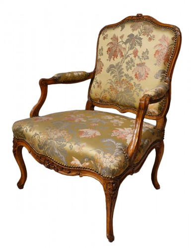"Louis XV armchair stamped ""Falconet"""