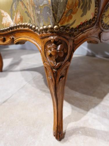 "Louis XV armchair stamped ""Falconet"" - Louis XV"