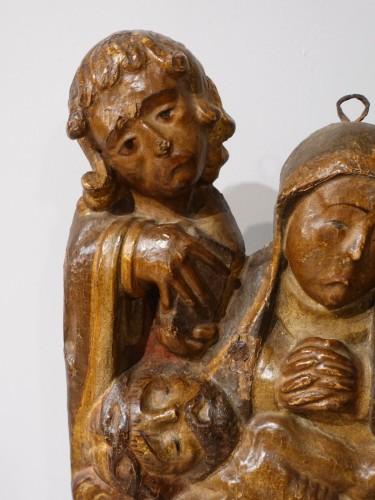 <= 16th century - 16th century  polychrome wood &quot;Pietà&quot;