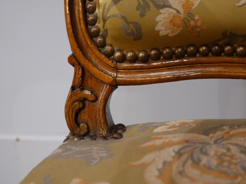 "Louis XV armchair stamped ""FRC Reuze"" - Louis XV"