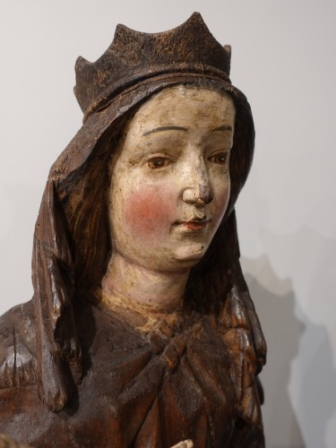 "Virgin and Child ""in Majesty"", 15th century - Sculpture Style Middle age"