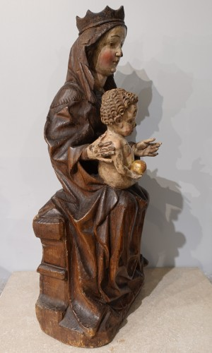 "Virgin and Child ""in Majesty"", 15th century - Middle age"