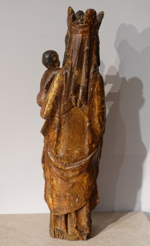 11th to 15th century - Madonna and Child in carved and polychrome wood, 14th century