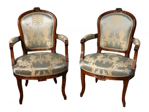 18th century pair of Armchairs Stamped F. Lapierre (1753 - 1823)