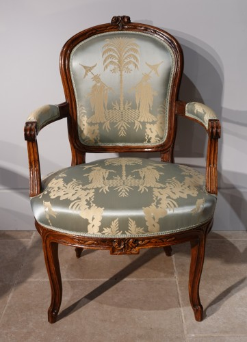 18th century pair of Armchairs Stamped F. Lapierre (1753 - 1823) - Seating Style