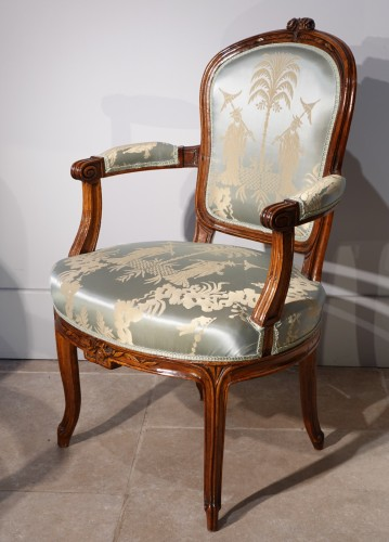 Seating  - 18th century pair of Armchairs Stamped F. Lapierre (1753 - 1823)