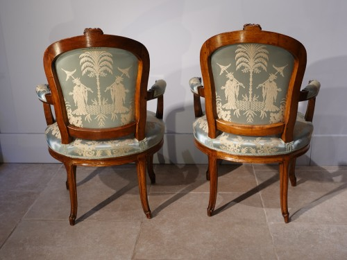 18th century pair of Armchairs Stamped F. Lapierre (1753 - 1823) -