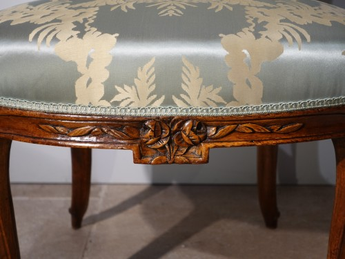 Antiquités - 18th century pair of Armchairs Stamped F. Lapierre (1753 - 1823)