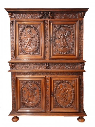 "French Louis XIII sideboard ""Four Seasons"", early 17th century"