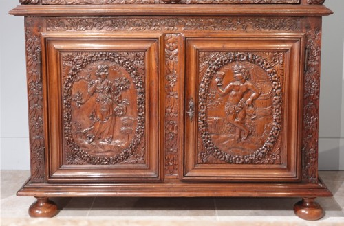 """Furniture  - French Louis XIII sideboard """"Four Seasons"""", early 17th century"""