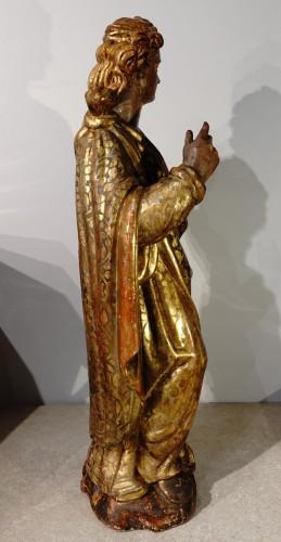 <= 16th century - Italian Saint Catherine of Alexandria, polychrome gilded, late 16th century