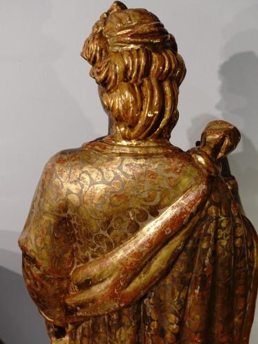 Renaissance - Italian Saint Catherine of Alexandria, polychrome gilded, late 16th century