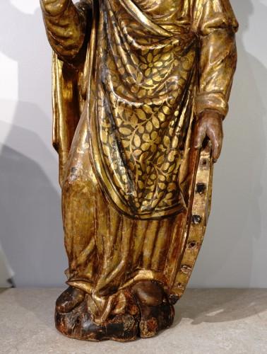 Antiquités - Italian Saint Catherine of Alexandria, polychrome gilded, late 16th century