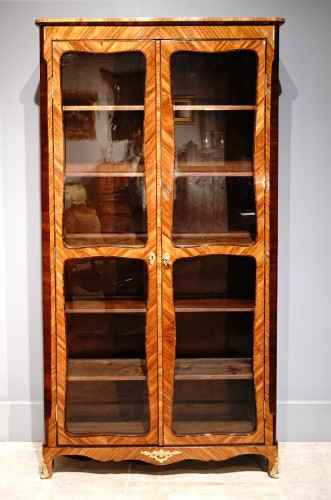 French Louis XV Library  Showcase, 18th Century - Furniture Style Louis XV