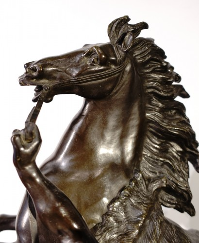 """""""The horses of Marly"""" after the sculptor Coustou, late 19th century - Napoléon III"""
