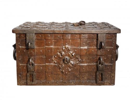 17th century wrought iron marine chest