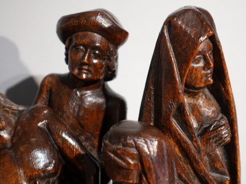Sculpted oak statuary group from the Flanders region, circa 1470 -