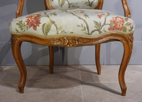 Seating  - French Louis XV Armchairs in Walnut