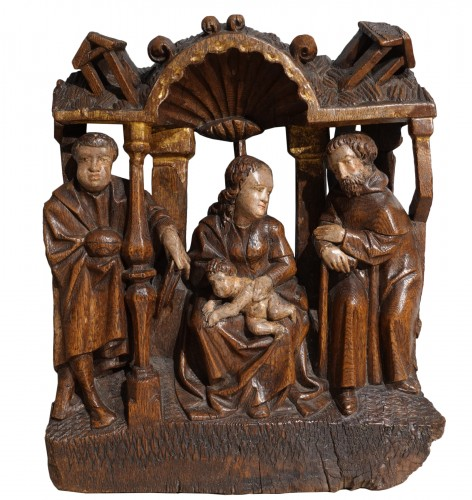 Nativity In Polychrome Wood, Early 16th Century