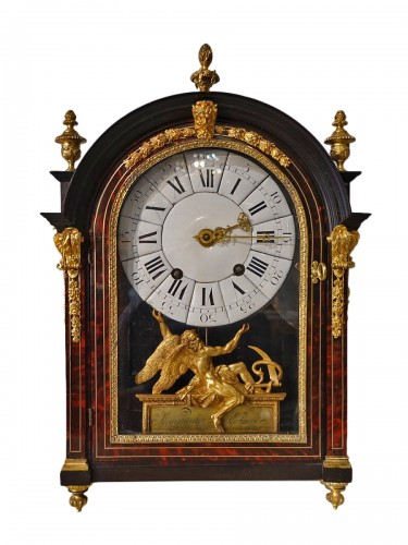 "French Louis XIV Clock ""religieuse"", By The Watchmaker Mathieu Marguerite ("