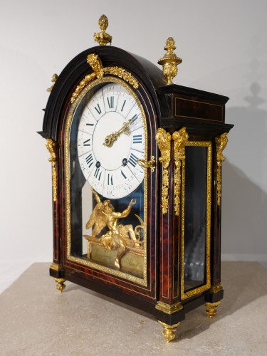 """French Louis XIV Clock """"religieuse"""", By The Watchmaker Mathieu Marguerite ( - Horology Style Louis XIV"""