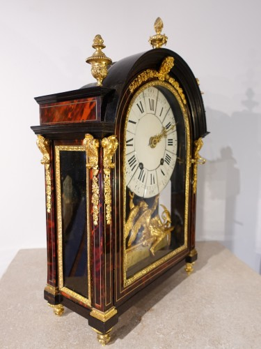 """Horology  - French Louis XIV Clock """"religieuse"""", By The Watchmaker Mathieu Marguerite ("""
