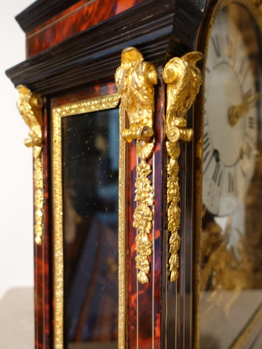 """French Louis XIV Clock """"religieuse"""", By The Watchmaker Mathieu Marguerite ( - Louis XIV"""