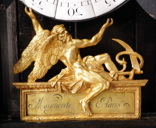 "Antiquités - French Louis XIV Clock ""religieuse"", By The Watchmaker Mathieu Marguerite ("