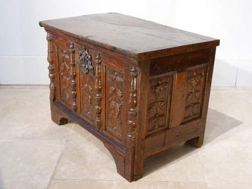 Furniture  - Small Renaissance Oak Chest, Late 16th Century