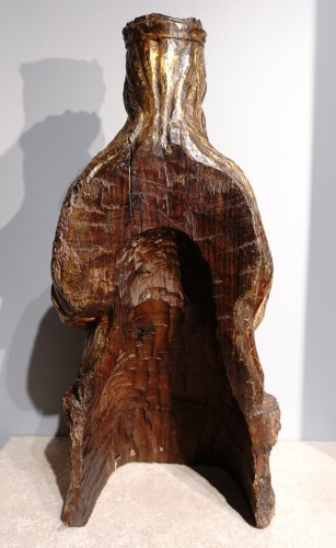 <= 16th century - Virgin In Majesty,  Polychrome Wood, Spain, Late 16th Century - Early 17th